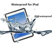 IP68 Waterproof Underwater Case for iPad Pro(10.5 Inch) Heavy Duty Shock Drop Rain Snow Dust Proof Protective Coque Slim Cover