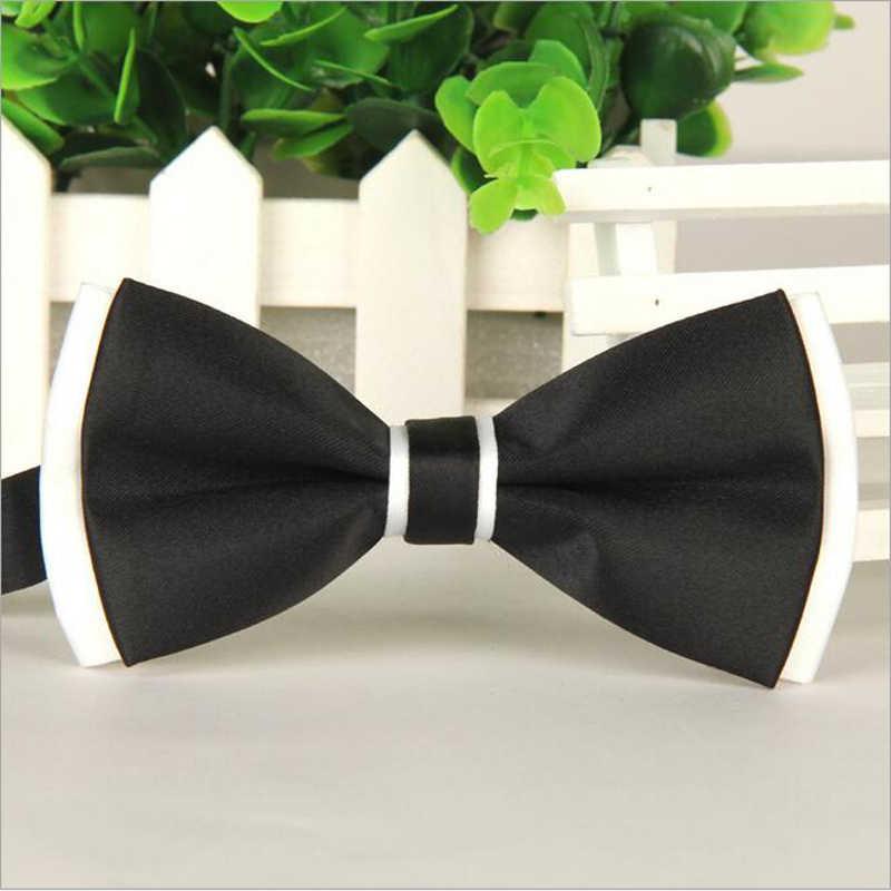 1 قطعة ماركة الموضة ربطة القوس فيونكة البوليستر الحرير فراشة قابل للتعديل الزفاف ربطة اثنين طبقة ربطة القوس فيونكة s للرجال