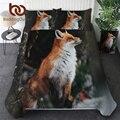 BeddingOutlet постельное белье fox комплект 3D печати пододеяльник диких животных домашний текстиль из 3 предметов Племенной покрывало цветочный по...