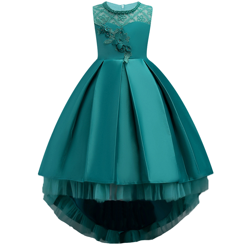 New summer Trumpet Children Dresses For Girls princess Kids Formal Wear Princess Dress For Baby Girl 8 Year Birthday Party Dress dresses for girls wedding dress charistmas dresses birthday kids baby girl clothes princess dress new year party clothing gh334