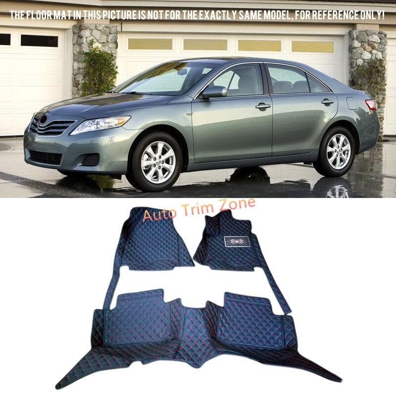 Черный кожаный салон Коврики и ковры для Toyota Camry 2007-2011 xv40