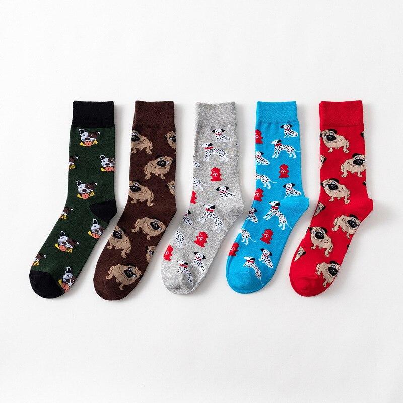 Otoño e Invierno nuevos calcetines coloridos de dibujos animados para perros, calcetines casuales de algodón para mujer, calcetines al por mayor, calcetines casuales para mujer, pareja