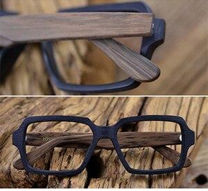 Image 4 - Posesion Wood Men Women Glasses Frames Square Oversized Prescription Optical Eye Glasses Frames for Men oculos de grau