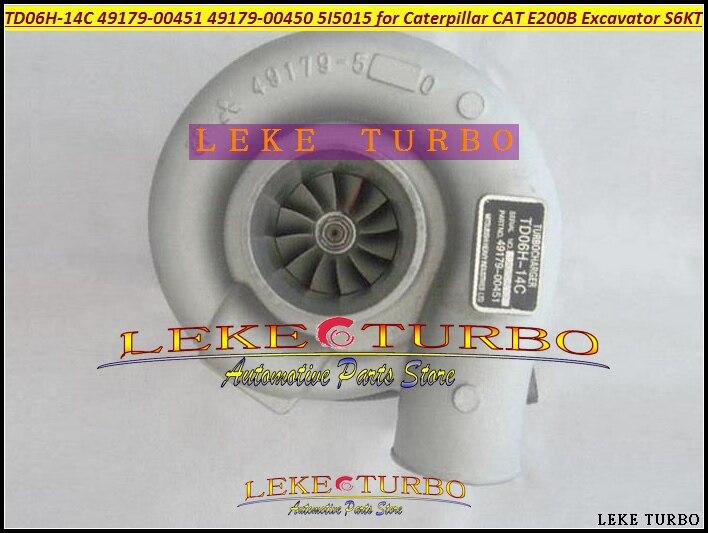 TD06H 49179-00451 49179 00451 49179-00450 5I5015 Turbo Turbocharger For Caterpillar CAT E200B Excavator Earth Moving S6K S6KT  цены