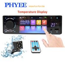 PHYEE 4 Touchscreen 1 Din Autoradio Bluetooth Car font b Radio b font Stereo Audio Video