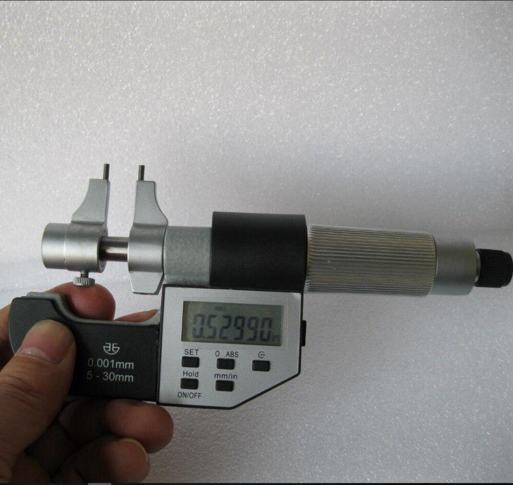 Aletler'ten Mikrometreler'de Ücretsiz kargo Yüksek kalite Xibei marka Elektronik dijital mikrometre kumpas içinde 5 30mm 0.001mm title=