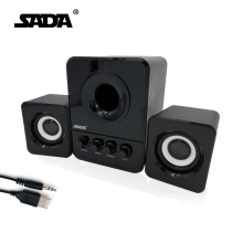 Usb Multimedia Stereo Computer Speakers 2.1 For PC Desktop Laptop, External Bass Deep Woofer Box 3.5mm Speaker For Computer