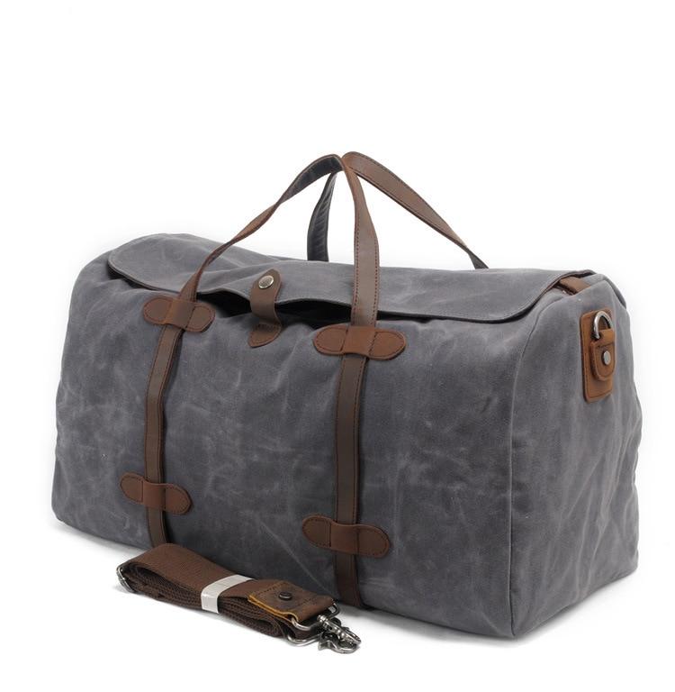 New Fashion Travel Bag Canvas Travel Duffel Vintage Travel Bags Gentlemen XL Size Waterproof Journey Duffel