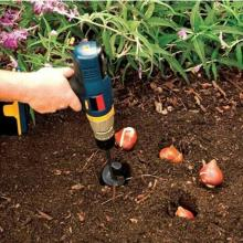 4*22CM/4*45CM/5*22CM Garden Auger Spiral Drill Bit Spiral Hole Garden Yard Earth Bulb Planter Bedding Planting Hole Digger Tool