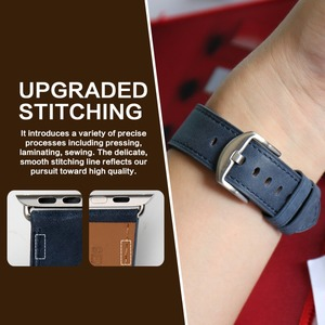 Image 5 - MAIKES Genuine Leather For Apple Watch Strap 44mm 40mm & Apple Watch Band 38mm 42mm Watchbands iwatch Series 4 3 2 1 Bracelet