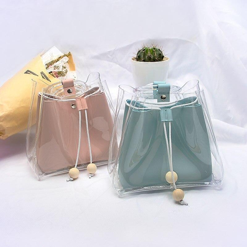Transparent Gelee Paket 2018 Neue Sommer Damen Tasche Handtasche Strand Seite Mini Eimer Tasche Hell In Farbe
