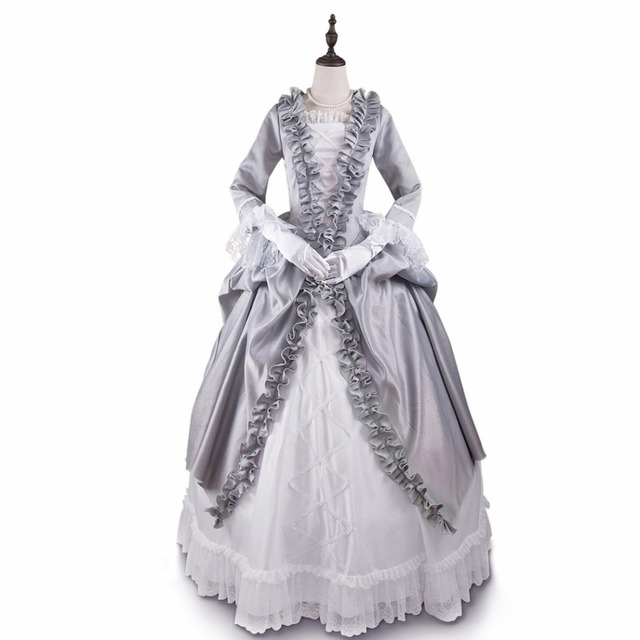 Baroness Prom Dress Gothic Victorian Dress Floor-length Grey Renaissance Dress Fancy Palace Masquerade Costume  sc 1 st  AliExpress.com & Baroness Prom Dress Gothic Victorian Dress Floor length Grey ...