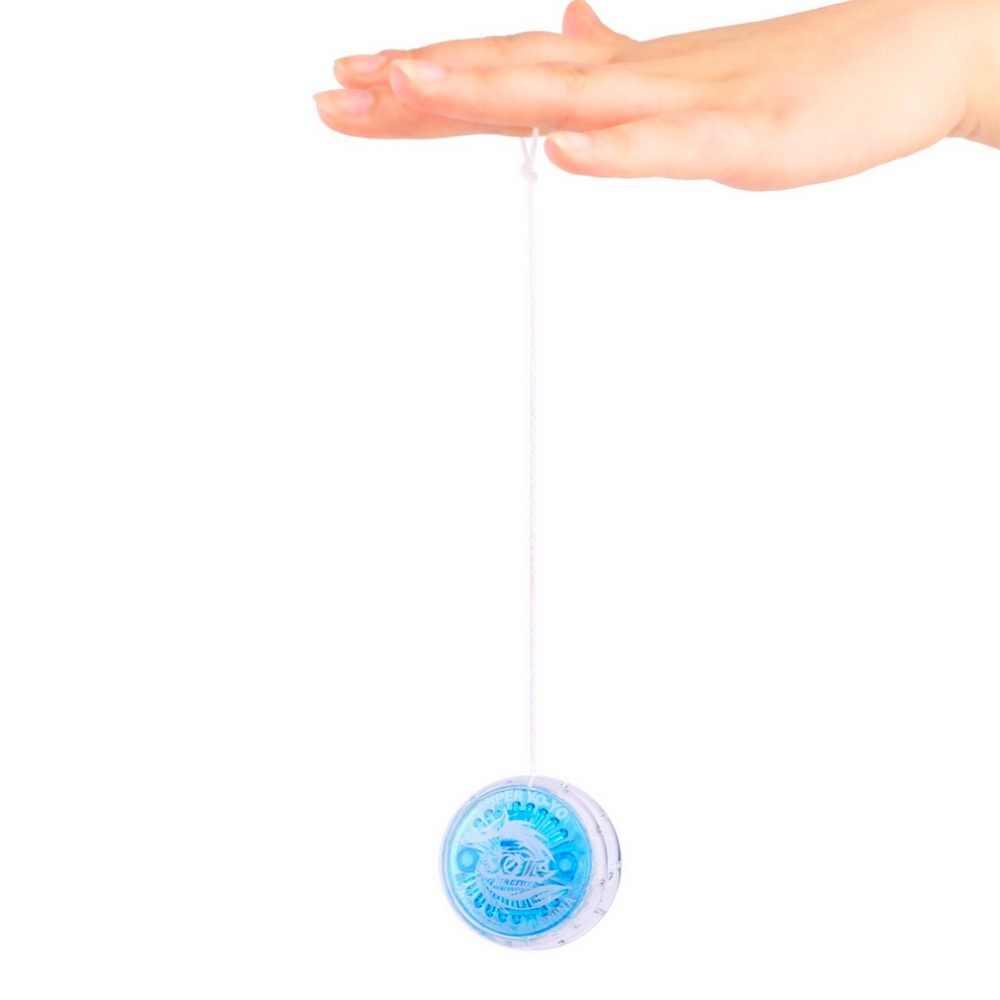 1 قطعة ملون ماجيك يويو لعب للأطفال البلاستيك يسهل حملها اليويو لعبة حزب الصبي الكلاسيكية مضحك يويو العاب كروية هدية