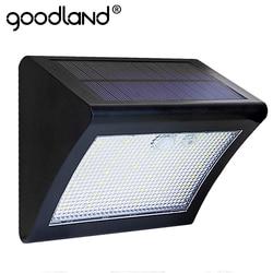 Goodland LED الشمسية ضوء البير محس حركة ضوء في الهواء الطلق الشمسية مصباح لوح طاقة شمسية مضاد للمياه 3 طرق السيارات الاستشعار ل حديقة الباحة