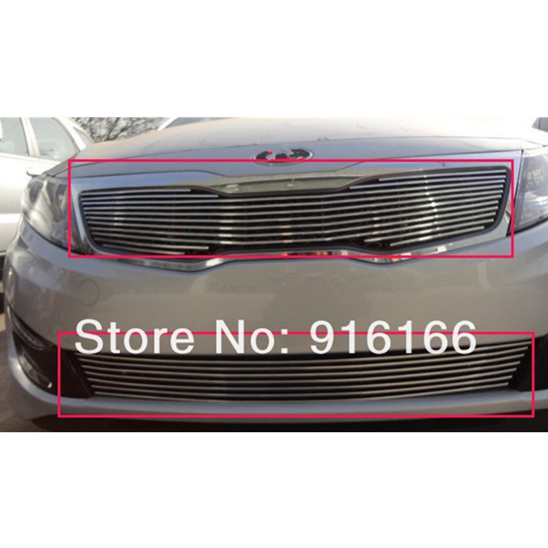 For 2011 KIA Optima/K5 High quality stainless steel Front Grille Around Trim Racing Grills Trim,Free shipping , car styling free shipping k5 metal shell