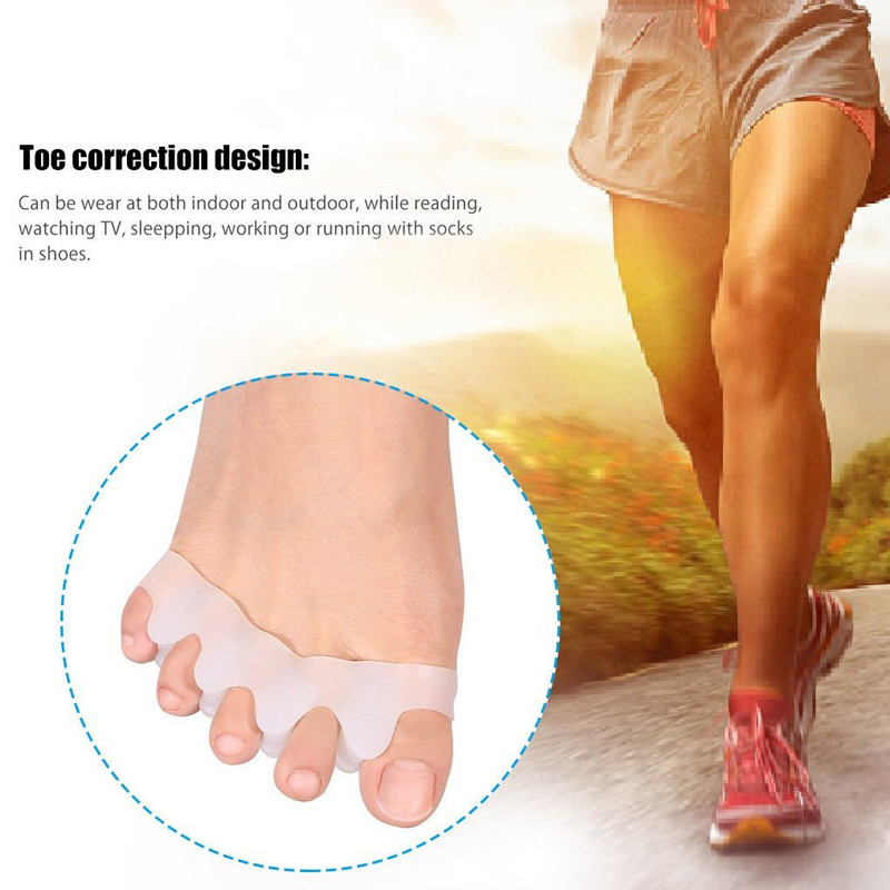 Tcare 1Pair Gel Toe Separator Rubber Toe Stretchers Toe Spacers Used for Cushioning and Relieve Bunion Pain Toe Straightener 5
