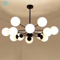 New Chandelier Living Room Bedroom Lamp lustres de cristal indoor home Lights glass wrought iron Pendant Chandeliers
