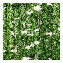 Здесь можно купить   10 Pieces 2.3M Artificial Flower Vine Green Ivy Leaves Wedding Decoration Hotel Living Room Shop Embellishment plant Accessories Festive & Party Supplies