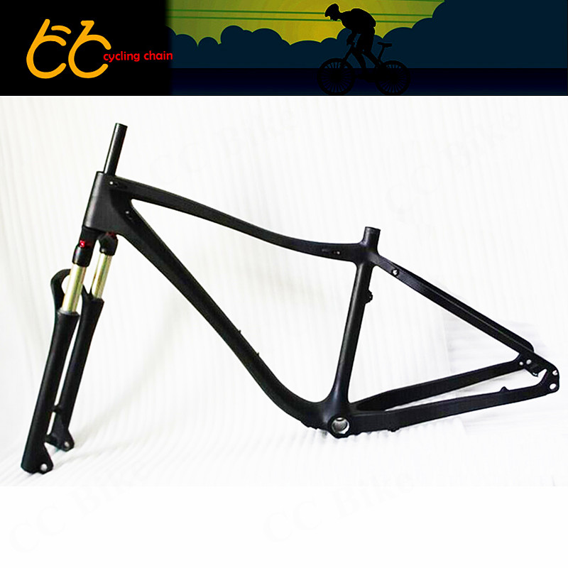2016 new thru axle/QR 26er fat bike full carbon snow frame BSA carbon fat bike frame for fat bike CC-CMF-010