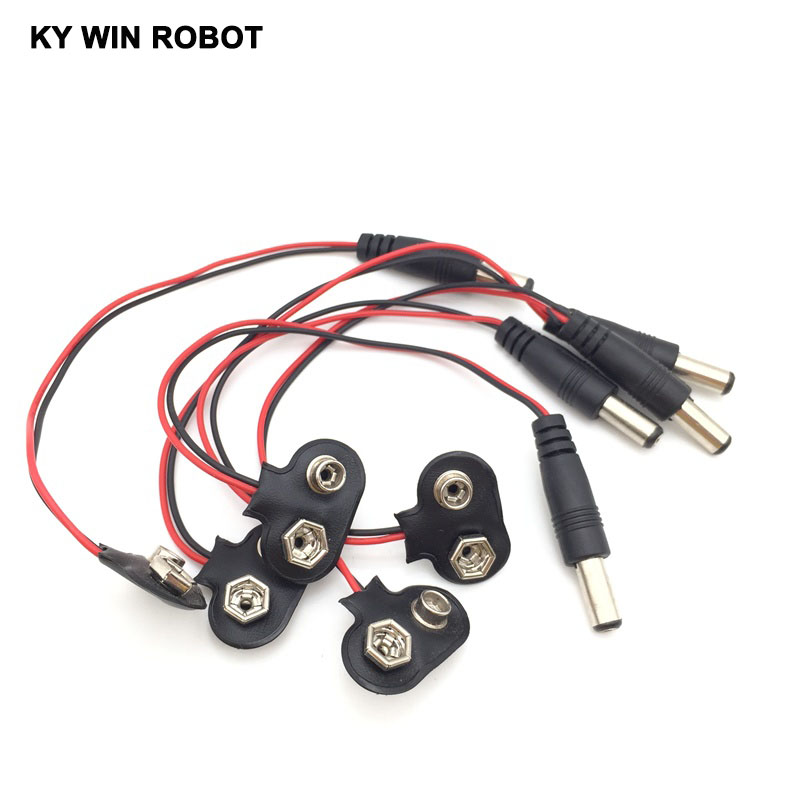 5pcs-experimental-9v-battery-snap-power-cable-to-dc-9v-clip-male-line-battery-adapter-for-font-b-arduino-b-font-uno-r3-diy-jack-connector
