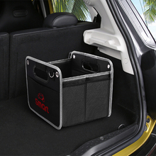 For Smart 450 451 453 Fortwo Forfour auto logo car accessory net bag Foldable black storage box Oxford cloth