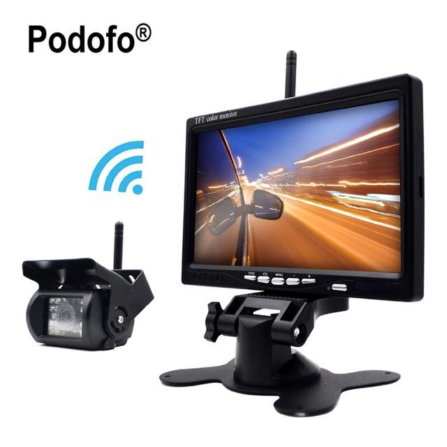 Câmera de Segurança Do Veículo & Night Vision IR sem fio 7 polegada HD Monitor de Câmeras de Visão Traseira Do Carro para o Caminhão de Assistência de Estacionamento à prova d' água