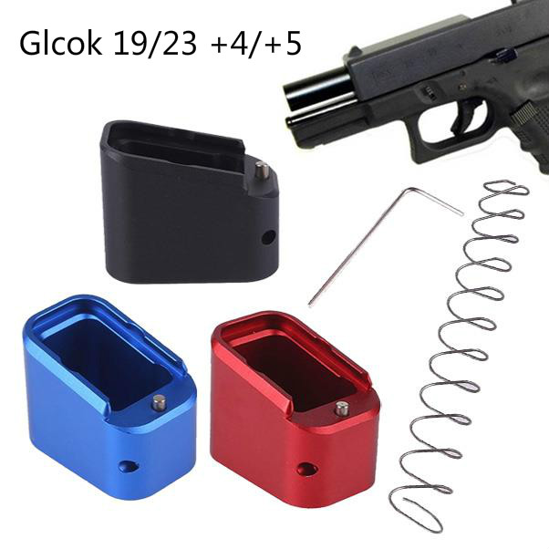 Magorui taktik Mag uzatma tabanı Pad Glock 19/23 + 4/+ 5 + 10% bahar