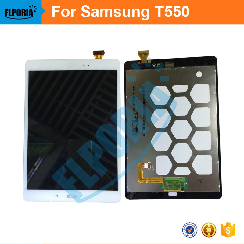 LCD Assembly For Samsung Galaxy Tab A 9.7 SM-T550 T550N T555 Panel LCD Combo Display With Touch Screen Digitizer Glass free shipping touch screen with lcd display glass panel f501407vb f501407vd for china clone s5 i9600 sm g900f g900 smartphone