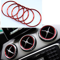 For Mercedes Benz A/B/GLA/CLA Class Aluminium alloy Air outlet sticker/Instrument panel Air outlet decoration ring