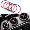 Para Mercedes Benz A/B/ABL/CLA Classe de saída de Ar da liga de Alumínio etiqueta do painel de Instrumentos/Ar tomada decoração anel