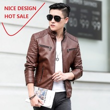 NICE DESIGN  2018 new style fashion wear classic high quality mens pu jacket coat with zipper decroation HOT SALE