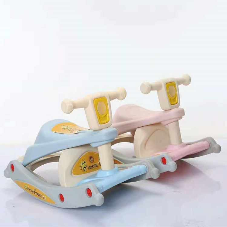 الأطفال يهز الحصان المزدوج استخدام اثنين في مزيج مع الموسيقى 1-3 سنوات طفل عمره مقعد لعبة كرسي طعام للأطفال