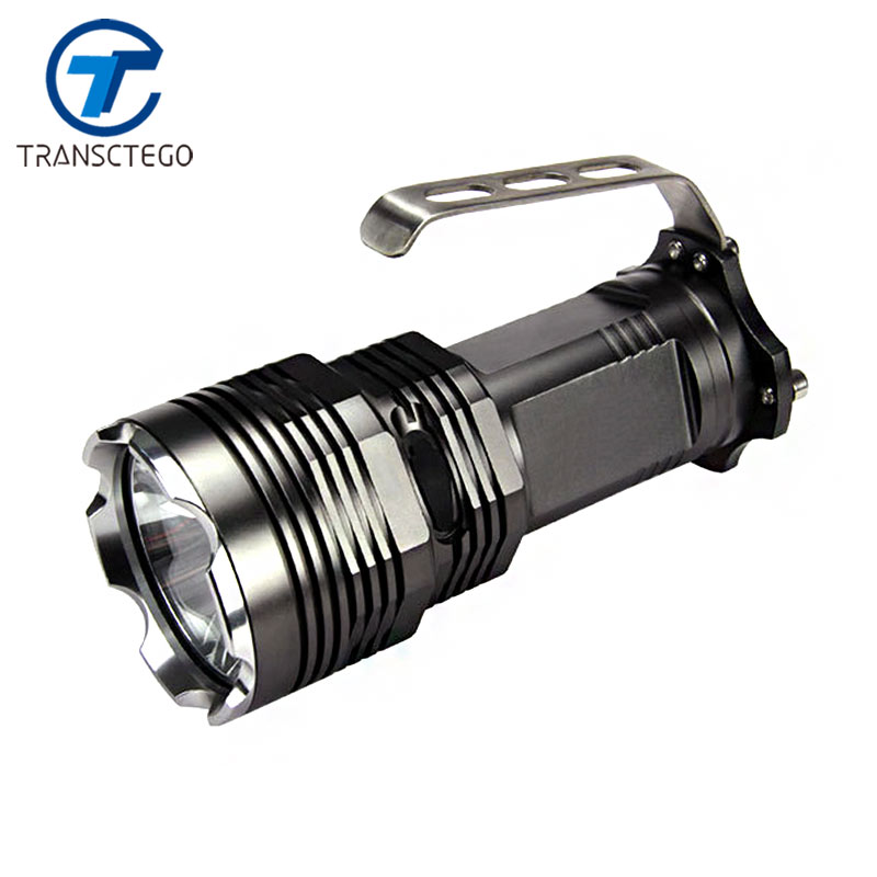 strong light flashlight high power torch outdoor portable led searchlig hunting flashlight 900 lumens black 10W fishing lamp high power torch 2000 lumens li batteries led flashlight torch light outdoor lighting