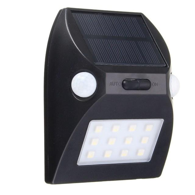 12 LED Solar Powered Light PIR Motion Sensor Light Smd 5050 Solar Outdoor  LED Garden Light