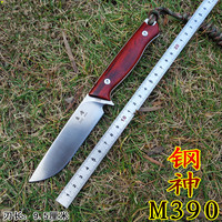 Sharp Handmade Tactical pocket knife M390 blade wood handle outdoor survival hunting knife EDC Belt clip rescue tool