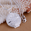 Silver fashion jewelry ,silver plated necklace for women, silver pendant necklace, free shipping