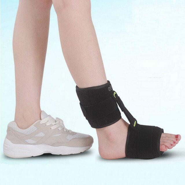 Nouvelle orthèse de soutien de l'articulation de la cheville de nuit réglable sangle d'enveloppe de fasciite plantaire crampes de pied empêchant la chute de pied