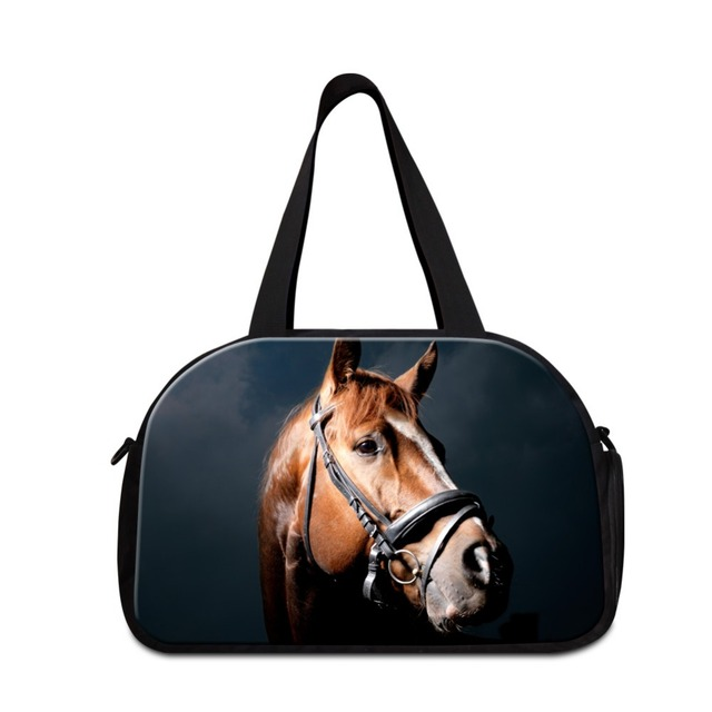 8580740917 Animal Horse Printing Shoulder Travel Bags for Men Travel Handbags for Youth  Medium sized Tote garment