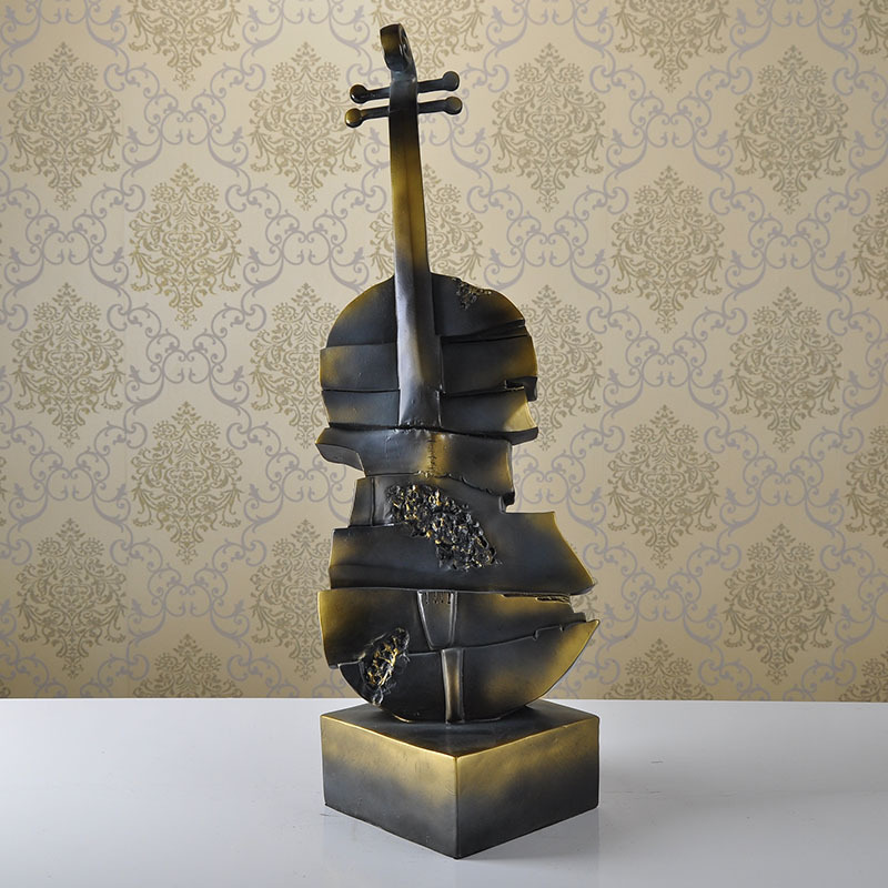 Faire l'ancienne résine de style européen ornements guitare instrument de musique bar décorations de table artisanat de mode personnalisé