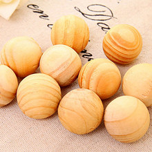 ROSENICE 20pcs/pack Natural Cedar Wood Balls Moth Repellent Mildew for Drawers Storage Boxes Closets(China)