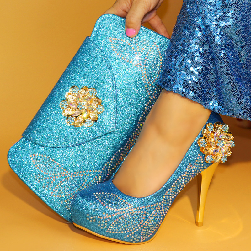 Sky Blue Shoes and Bag Sets for Women Matching Shoes and Bag Set In Heels Italian Shoes with Matching Bags for Wedding ItalySky Blue Shoes and Bag Sets for Women Matching Shoes and Bag Set In Heels Italian Shoes with Matching Bags for Wedding Italy