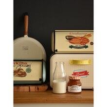 Винтажный Контейнер Для Хранения Хлеба из металла Cocina, кухонные контейнеры, коробка для зерновых, пасторальный органайзер, корзина для французского дома