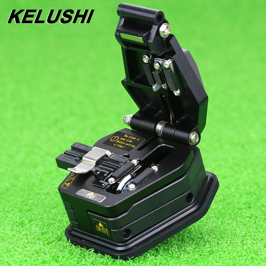 KELUSHI Fiber Cleaver SKL-6C Cable Cutting Knife FTTH Fiber Optic Knife Tools Cutter High Precision Cleavers 16 Surface Blade