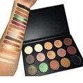 15 colores de sombra de ojos paleta naked maquillaje sombra de ojos brillo shimmer mate paleta de sombra y contorno de luz de sombra de ojos profesional