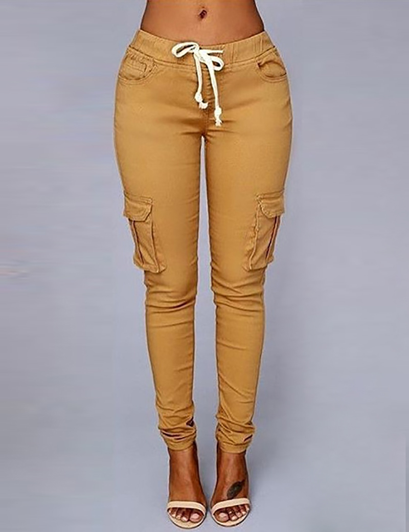 d62b1e03a8fc NATTEMAID High Recommend the most popular American Style khaki tight women  jeans pants fashion side leg pocket girls capris