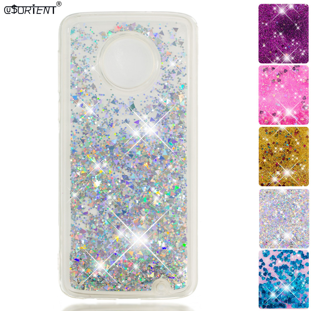 For Motorola Moto G6 Plus G6 Glitter Dynamic Liquid Quicksand Fitted Case Xt1926-5 Xt1926-6 Xt1926 Soft Silicone Phone Cover Cellphones & Telecommunications