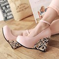 New2016Summer BrandSpring Ladies Pumps Women Wedges High Heels Platform Pumps Round Toe Shoes Pumps Comfortble Shoes Woman Pumps