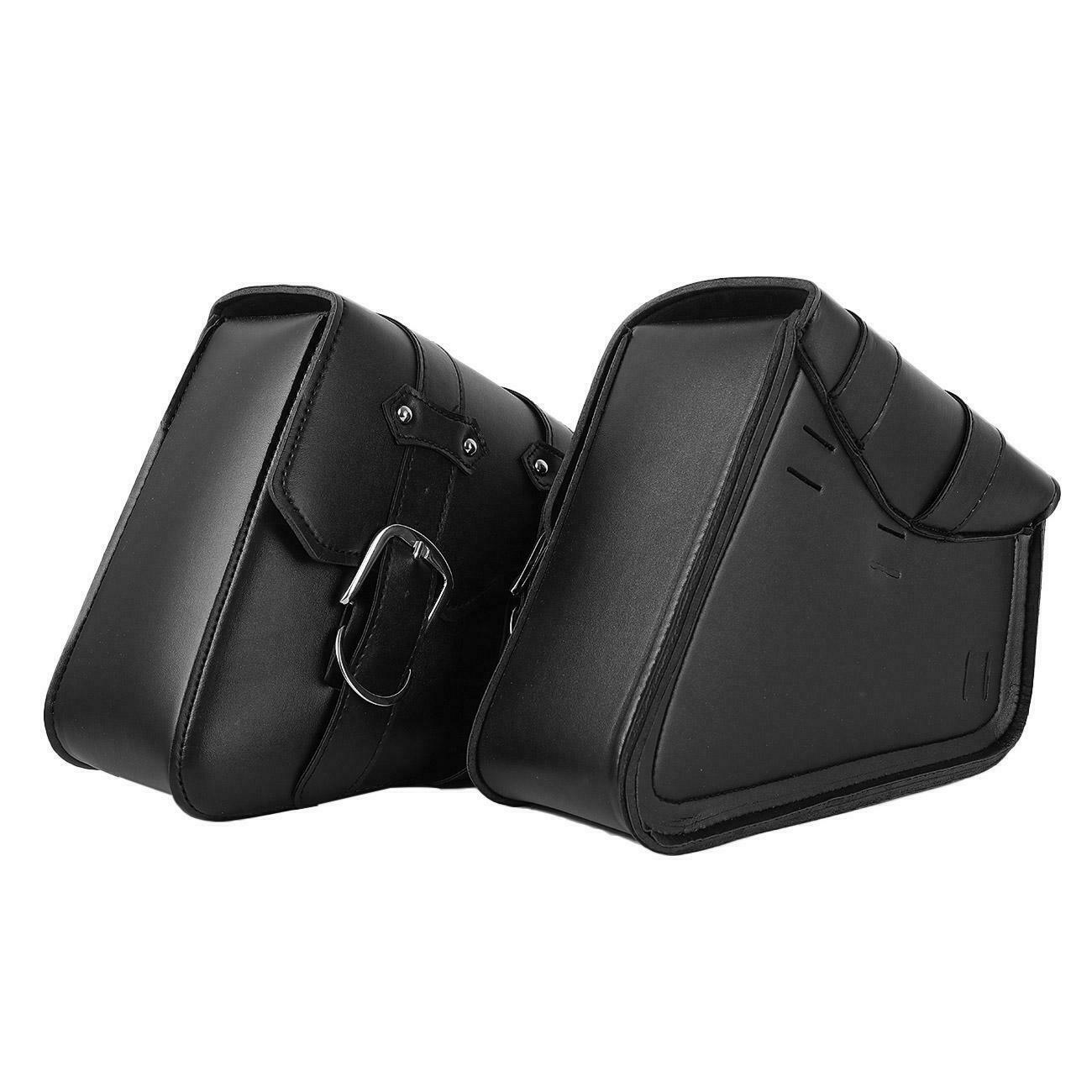 Black Motorcycle Saddle bag 2pcs Replace For Harley XL Sportster 1200 CustomBlack Motorcycle Saddle bag 2pcs Replace For Harley XL Sportster 1200 Custom