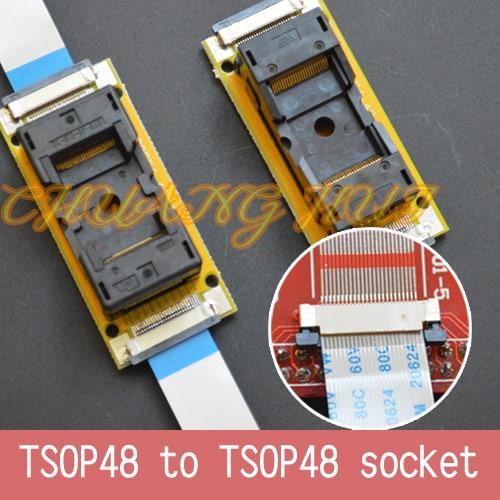 Program Test New TSOP48 On Line Test Socket SMD Welding TSOP48-TSOP48 Ic Socket Adapter Pitch=0.5mm