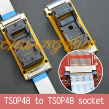 Program Test new TSOP48 On line test socket SMD welding TSOP48-TSOP48 ic socket Adapter Pitch=0.5mm qfn44 mlf44 wlcsp44 to dip44 double board programming socket ic550 0444 010 g pitch 0 5mm ic size 7x7mm adapter smt test socket